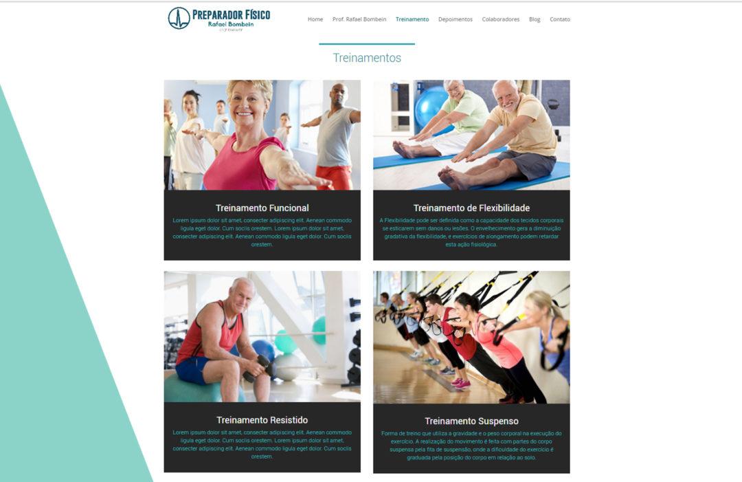 Website de Personal Trainer